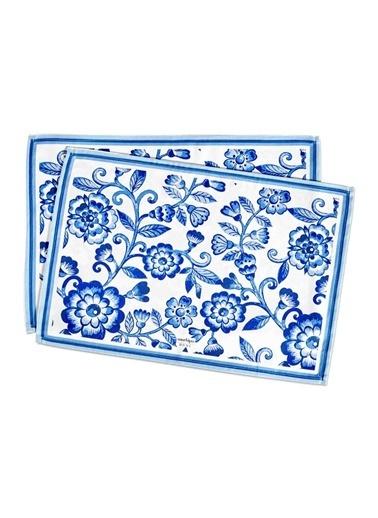 Morhipo Home Amerikan Servis 2'li Blue Floral Lacivert